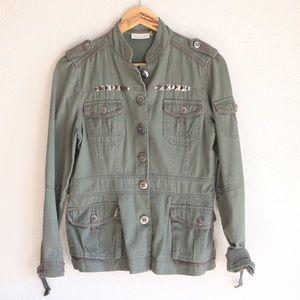 Studded Military Style Jacket